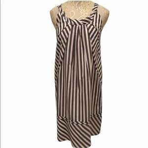 Maeve Slate Striped Shift Dress Size 2